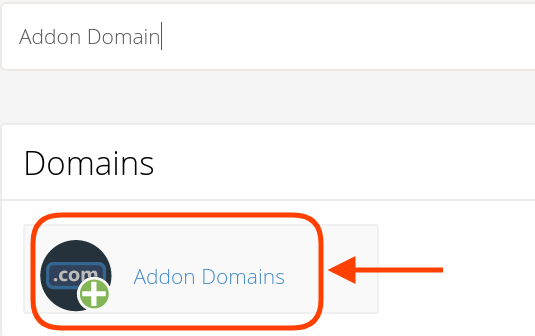 Choose Addon Domains