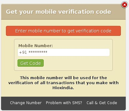 Hioxindia Mobile Verification